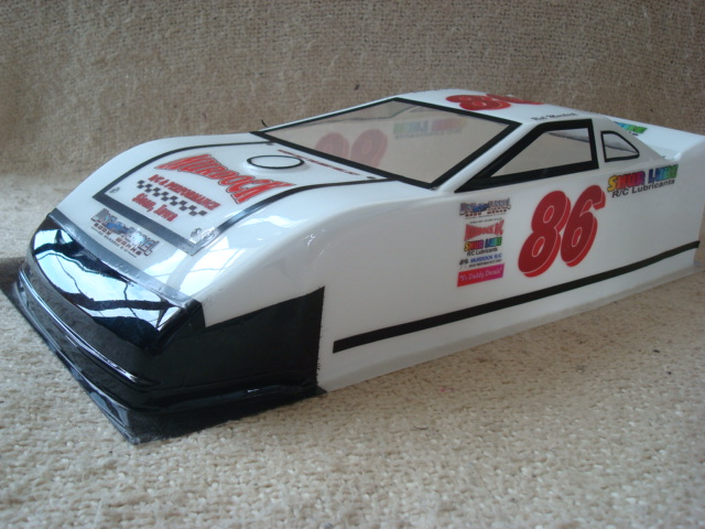WT2218 Dirt Late Model Lexan Body (1/10th scale)