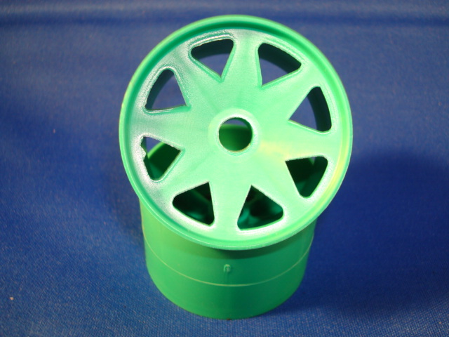 WT8690GRN Windtunnel 1/10th Green Front Wheels (pair)