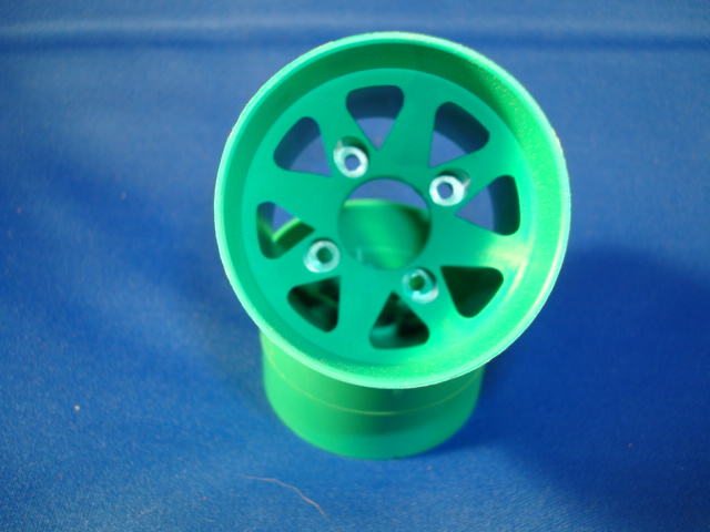 WT8691GRN Windtunnel 1/10th Green Rear Wheels (pair)