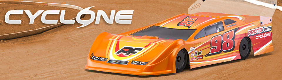 Protoform 1234-21 Cyclone 9.5 Dirt Oval Body