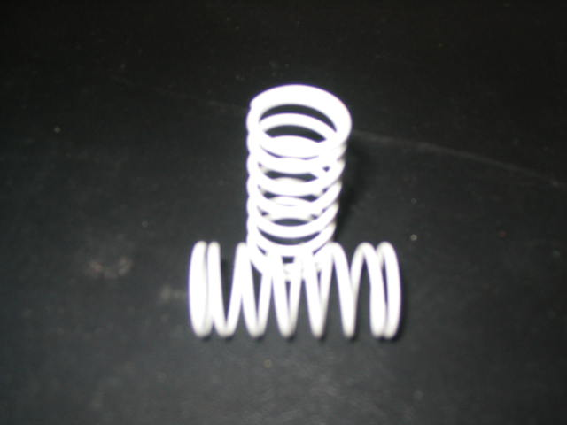 WT3304 White 4# (CS) Center Shock Springs. (pair)